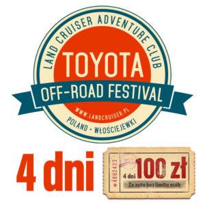 Toyota Off-Road Festival 4 dni – sprzedaż wstrzymana do odwołania