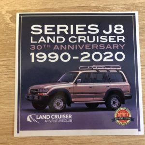 Nalepka Land Cruiser J8 Series