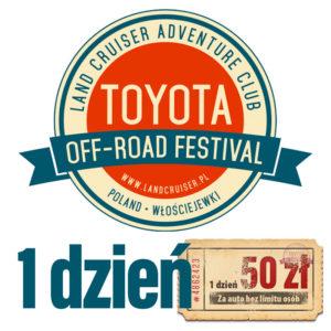 Toyota Off-Road Festival 1 dzień – sprzedaż wstrzymana do odwołania