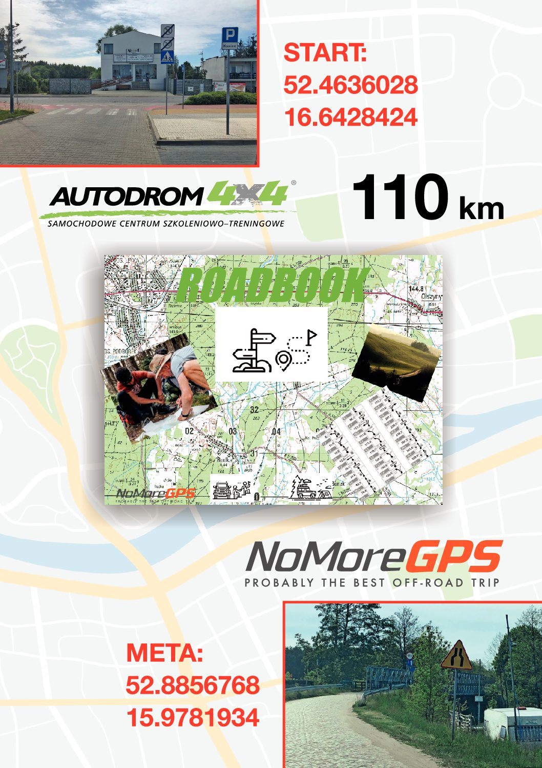 Road Book kierunek Drawa 110 km.